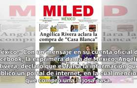 #AngélicaRivera aclara que no compró casa de 63 mdp