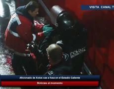 Aficionado de #Xolos cae a fosa en el Estadio Caliente