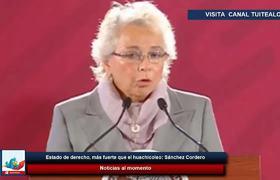 Estado de derecho, más fuerte que el huachicoleo: Sánchez Cordero