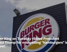 Trump ofrece banquete de Hamburguesas y pizzas