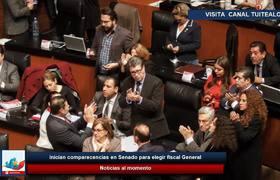 Inician comparecencias en Senado para elegir fiscal General
