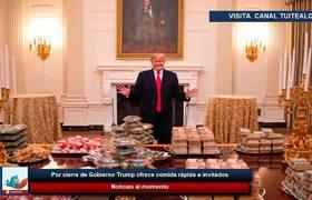 Trump ofrece hamburguesas de McDonald's y pizzas a invitados por cierre de gobierno