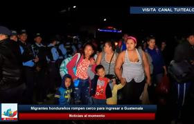 Migrantes hondureños rompen cerco para ingresar a #Guatemala