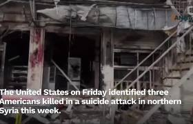 U.S. Names Three Killed In Syria Blast Claimed By Islamic State