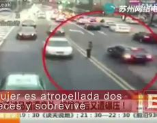 Woman is hit 2 times in the streets of China and miraculously survives