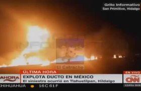 79 muertos por explosión de ducto en Hidalgo, México