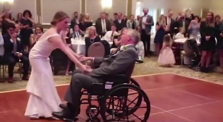 Bride shares her father-daughter wedding dance with her terminally ill father