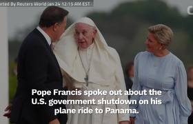 #PopeFrancis Talks About US Government Shutdown