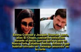 Sorprende 'mensaje amoroso' de Emma Coronel y #ElChapo durante juicio