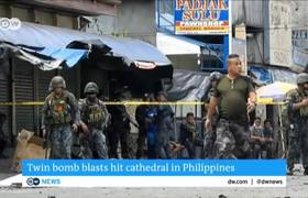 Philippines: 15 dead in 2 bombings in Jolo Cathedral