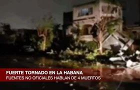 Primeras Imágenes sobre FUERTE TORNADO en La Habana