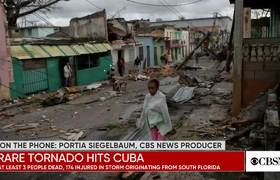 Raro y mortal tornado azota a Cuba