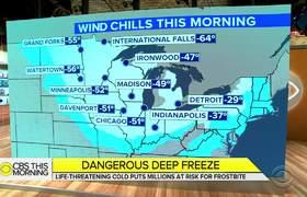 Congelantes vientos en Chicago