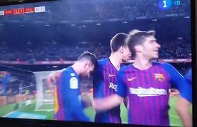 F.C.Barcelona VS Sevilla Copa del rey - Messi Goal