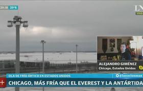 Ola polar extrema en #Chicago, más frío que en la Antártida