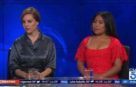 KTLA5: Oscar Nominees Yalitza Aparicio & Marina de Tavira on How they Learned from Each Other in Roma