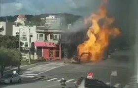 Linea de gas explota en San Francisco