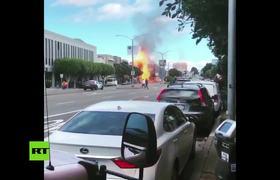 Enormes llamas y columnas de humo tras rompimiento de una línea de gas en San Francisco