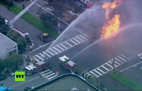 #VIDEO: Fire after a gas explosion in San Francisco