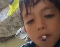 #VIRAL: Indigating child smoking marijuana