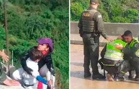 """""""Mami, no te tires"""" colombiana se lanza al vacío con su hijo en brazos"""