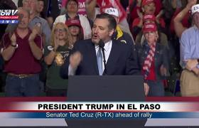 Sen. Ted Cruz (R-TX) Speaks Ahead of President Trump
