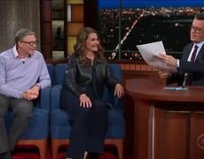 Late Show: Bill & Melinda Gates Talk Taxing The Wealthy