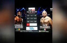#UFC: Cain Velasquez vs Francis NGannou