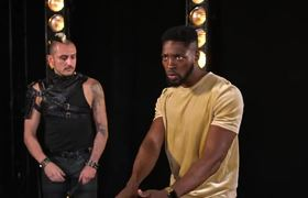 America's Got Talent: The Champions - LOL! Preacher Lawson Attempts To Throw Knives At Deadly Games