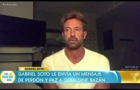 Gabriel Soto le pide perdón a Geraldine Bazán en un video