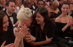 A STAR IS BORN Accepts the Oscar for Music (Original Song)