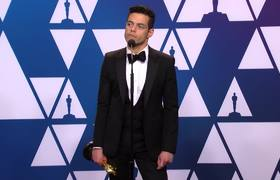 Rami Malek talks about winning #Oscar for best actor at 2019 Academy Awards