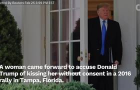 #OMG: Mujer acusa a Donald Trump de haberla besado sin su consentimiento