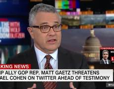 Trump ally Rep. Matt Gaetz threatens Michael Cohen in tweet
