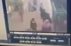 CCTV: Video of the accident in train station in Egypt