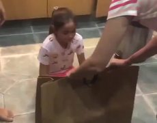 The reaction of this girl when receiving her gift is the BEST