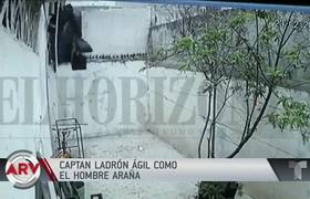 Thief in Mexico climbed a wall like spiderman
