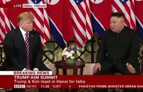 Donald Trump and Kim Jong-un meet in Vietnam