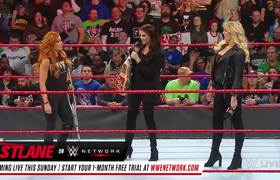 WWE: Ronda Rousey crashes Becky Lynch's Hold Harmless Agreement signing (Raw, March 4, 2019)