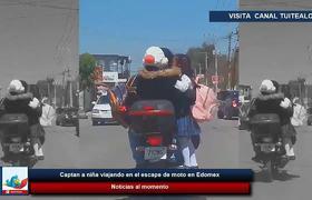 Alerta - Captan a niña viajando en el escape de moto en Edomex