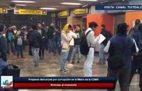 Preparan denuncias por corrupción en el Metro de la CDMX