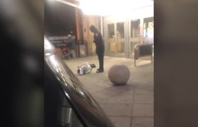 Transit police officer drags and throws man to ground