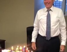 #VIDEO: Mitt Romney blowing out candles lights up internet