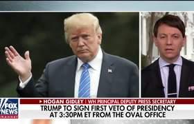 Hogan Gidley on Trump's first veto of his presidency