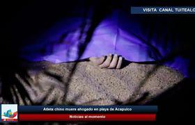 Atleta chino muere ahogado en playa de Acapulco