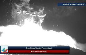 Fuerte Erupción del Volcán Popocatépetl sorprende a Puebla 18 Marzo 2019 Explosión