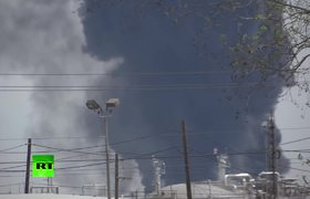 Petrochemicals plant near Houston is on fire for two days straight
