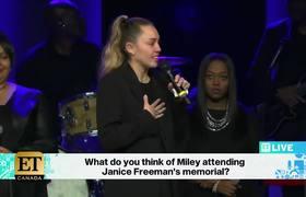 Miley Cyrus In Tears At Janice Freeman Memorial