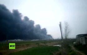 Blast rocks chemical factory in northern Jiangsu city