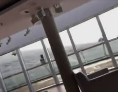 RAW VIDEO: Damage, swaying inside Viking Sky